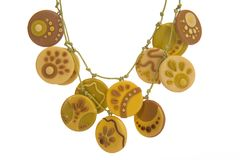 Ornaments from polymer clay Royalty Free Stock Photography
