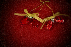 Ornaments on red blackground Stock Photo