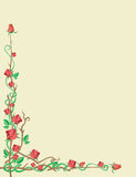 Ornaments of red roses. Ornament of red roses on beige background Royalty Free Stock Photos