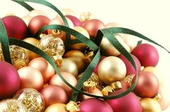 Ornaments & Ribbon Stock Photos
