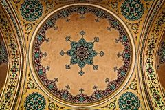 Ornaments on roof. Ornaments on mosque roof in the entrance stock image