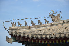Ornaments on the Roof of Xian City Wall Building Royalty Free Stock Photography