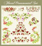 Ornaments in Russian Style. Floral ornamental set in traditional Russian style Royalty Free Stock Images