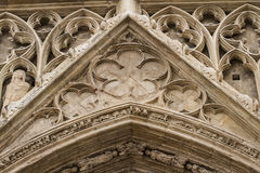 Ornaments and sculptures of Gothic style, Spanish Ancient Art Royalty Free Stock Image