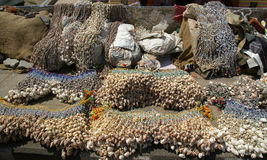 Ornaments from sea shells, Kerala, South India Royalty Free Stock Images