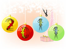 Ornaments showing New year 2011 Stock Image
