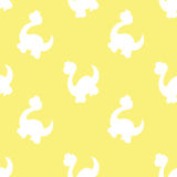 Ornaments with silhouettes of dinosaurs Stock Photography