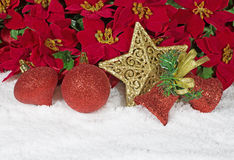 Ornaments in Snow Royalty Free Stock Image