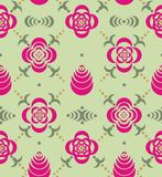 Ornaments from stencil of flowers and leaves Royalty Free Stock Images