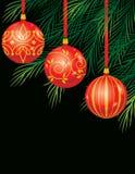 Ornaments on Tree stock photo