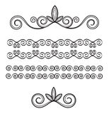 Ornaments vintage. Illustration, easy to use as separated elements stock illustration