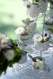 Ornaments for wedding reception table Royalty Free Stock Photos