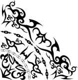 ornamentu abstrakcjonistyczny czarny kwadrant ilustracji