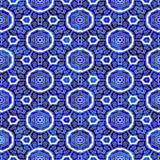 ornamentu błękitny wzór Zdjęcia Stock