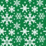 ornamentu bezszwowy płatków śniegów wektor Zdjęcia Royalty Free