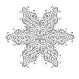 Ornamentu bielu czarna karta z mandala royalty ilustracja