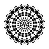 ornamentu czarny biel Obraz Royalty Free