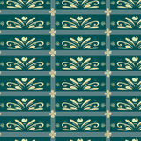 Ornamentu deseniowy błękit Zdjęcia Stock