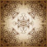 ornamentu geometryczne tła księgi stary rocznik Retro kartka z pozdrowieniami, Zdjęcia Royalty Free