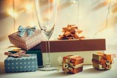Ornamentu i bożych narodzeń rzecz dekoruje w świętej nocy Obraz Stock