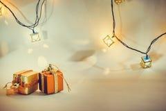 Ornamentu i bożych narodzeń rzecz dekoruje w świętej nocy Fotografia Royalty Free