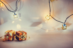 Ornamentu i bożych narodzeń rzecz dekoruje w świętej nocy Zdjęcia Royalty Free