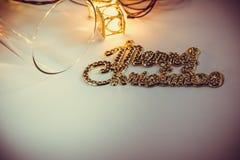 Ornamentu i bożych narodzeń rzecz dekoruje w świętej nocy Fotografia Stock