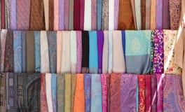 Ornamentu Ikat Khan atlant Tło jedwabnicza tkanina z orientalnymi ornamentami uzbek jedwab z ornamentem Zdjęcia Stock