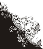 ornamentu motyli kwiecisty ilustracyjny wektor Fotografia Stock
