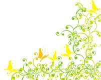ornamentu motyli kwiecisty ilustracyjny wektor ilustracji