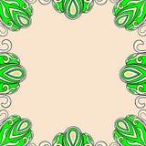 ornamentu ramowy ilustracyjny wektor Zdjęcia Stock