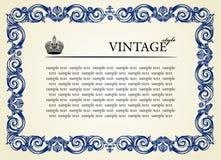 ornamentu ramowy rocznik Obraz Royalty Free
