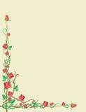 ornamentuje czerwone róże Ilustracja Wektor