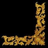 Ornamentuje elementy, rocznika złota ramy kwieciści projekty Obraz Royalty Free