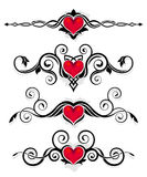 ornamentuje valentine Zdjęcia Stock