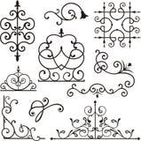 ornamentuje wrough żelaza Zdjęcie Stock