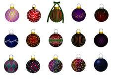 Ornamenty deseniują kolekcję na białym tle ilustracja wektor