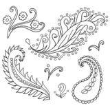 ornamenty ustawiający Obrazy Royalty Free