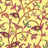 Ornamnet floral abstrait Modèle carrelé ornemental de Flourish ventilateur Photo stock
