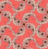 Ornamnet floral abstrato Teste padrão do ornamental da folha do redemoinho Imagem de Stock