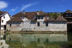 Ornans, Юра, Franche-Comte, Франция Стоковое Фото