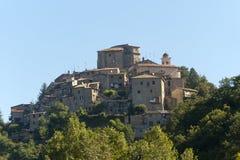 Ornaro (Rieti, Lazio, Italia) - vecchio villaggio Fotografia Stock Libera da Diritti