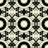 Ornate abstract black symmetrical lace Royalty Free Stock Photography