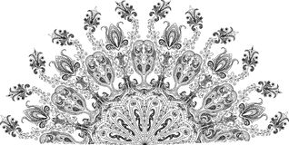 Ornate abstract silhouettes Royalty Free Stock Image