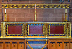 Ornate Altar inside Liverpool Anglican Cathedral Stock Images