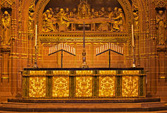 Ornate Altar inside Liverpool Anglican Cathedral Royalty Free Stock Photos