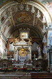 Ornate alter in church, Rome, Italy Royalty Free Stock Photos
