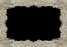 Ornate antique border, frame Stock Photo