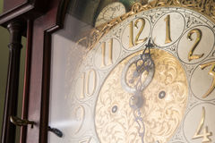 Ornate Antique Clock Stock Photography