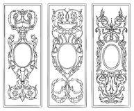 Ornate antique frames  vector set Stock Photography